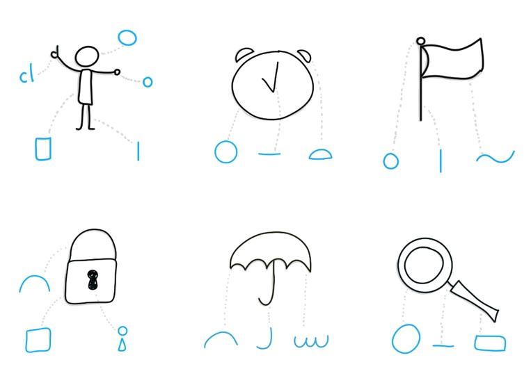 Dibujos a partir de formas básicas